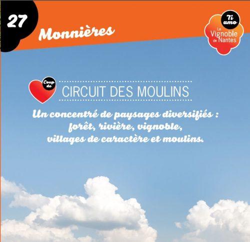 Fiche circuit coup de cœur les moulins à Monnières