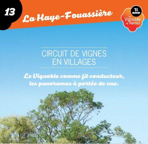 Fiche circuit de vignes en villages à la Haye Fouassière
