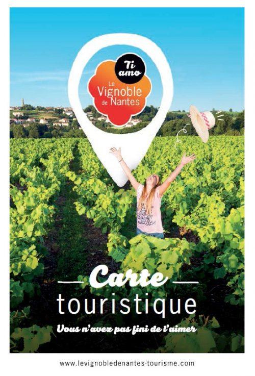 Carte touristique 2018 du Vignoble de Nantes