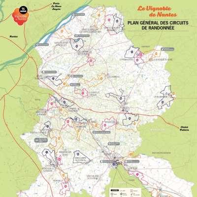 Carte générale des randonnées