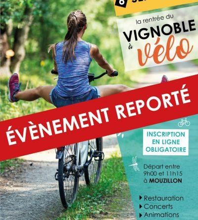 La manifestation La Rentrée du Vignoble à Vélo du 6 septembre est reportée